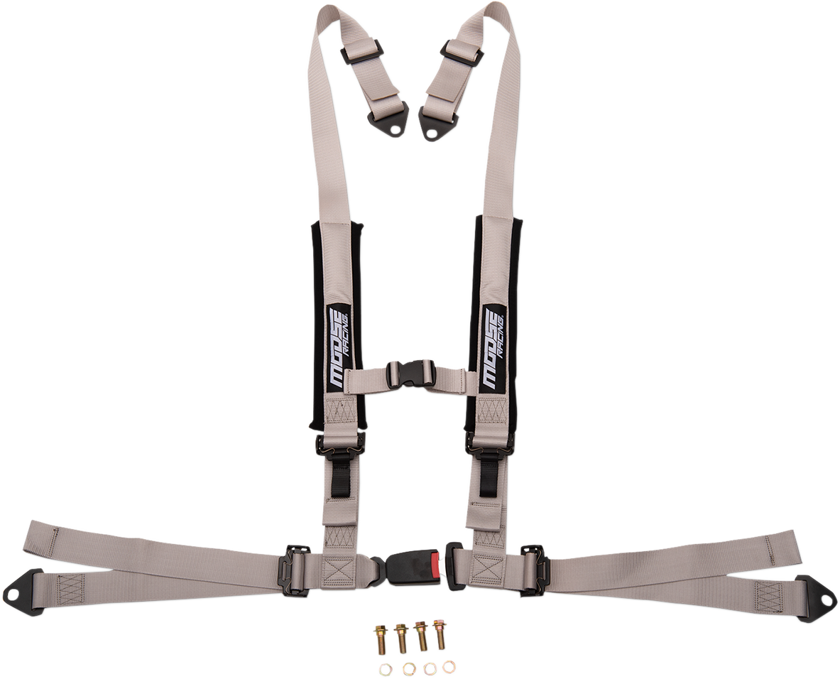 Moose Utility UTV Gray 4 Point Seat belt Harness Restraint Safety System