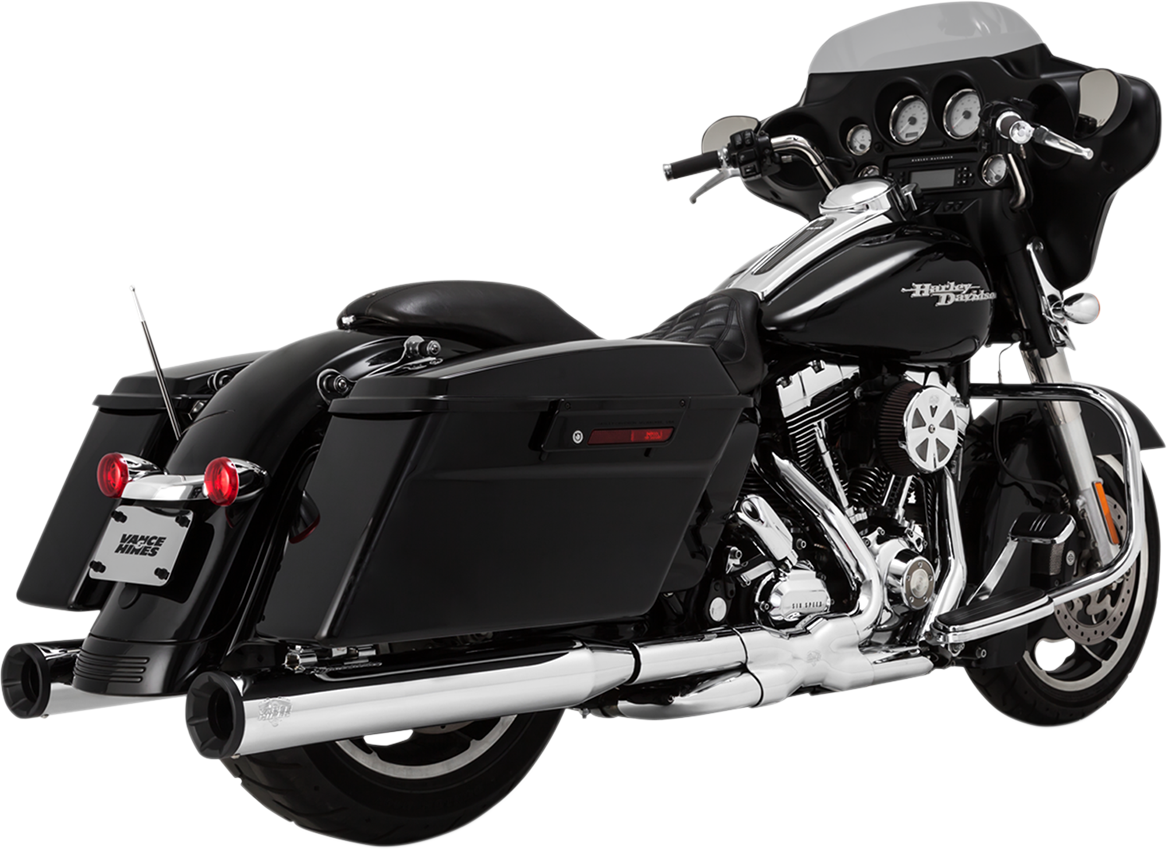 Vance & Hines Chrome Eliminator 400 Slip on Mufflers for 95-16 Harley Touring