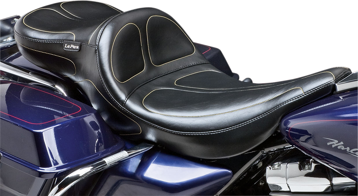 Le Pera Maverick Daddy Long Legs 2-Up Motorcycle Seat 02-07 Harley Touring