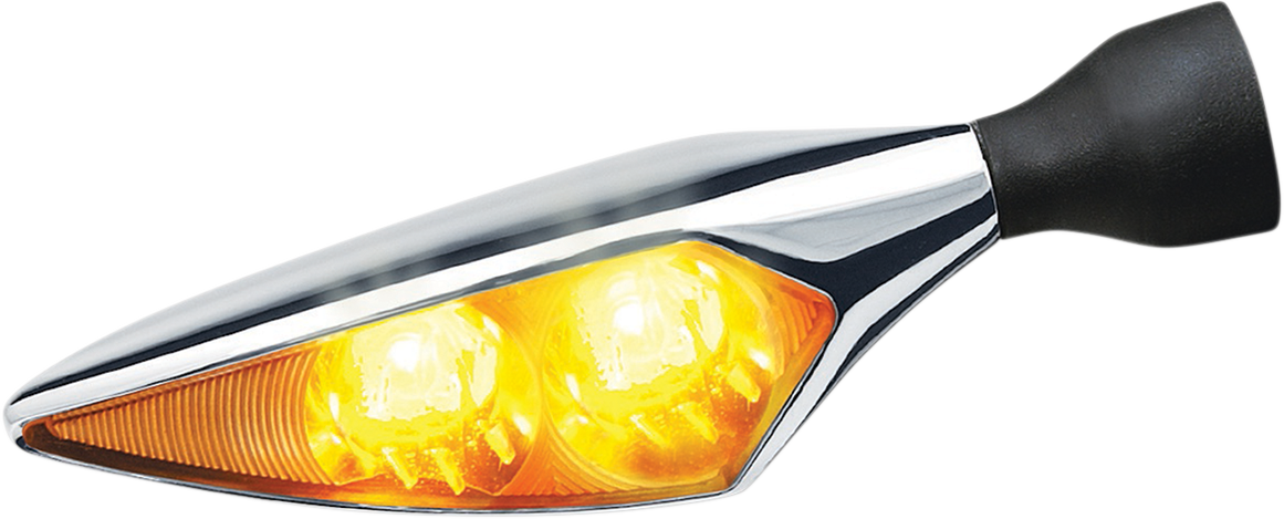 Kuryakyn 2549 Chrome Micro Rhombus Front Right Left Rear Amber LED Turn Signal