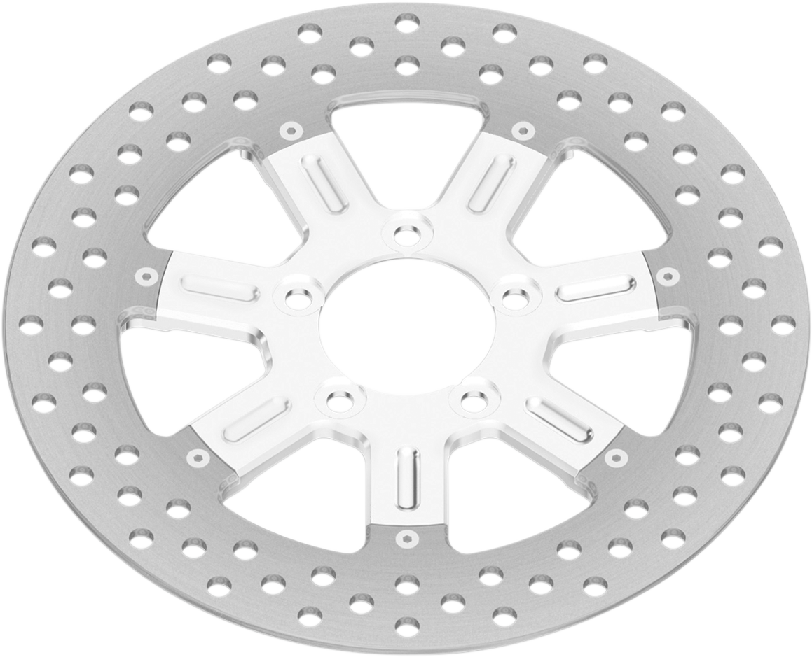 """RSD Chrome Delmar 11.5"""" Front Brake Rotor For 00-14 Harley Dyna Touring Softail"""