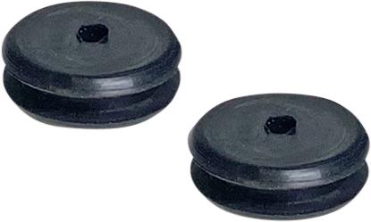 Custom Dynamics Pair Rubber Saddlebag Grommets 52-13 Harley Dyna Softail FXDWG