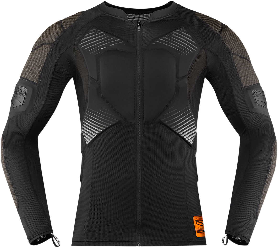 Icon Unisex Black Field Armor Chest Compression motorcycle Riding Under Shirt