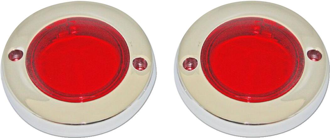 Custom Dynamics Chrome Flat Bezel Turn Signal Adapters for 86-19 Harley Touring