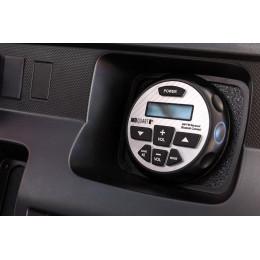 160-WATT POWERED BLUETOOTH® AM/FM GAUGE MOUNT RADIO