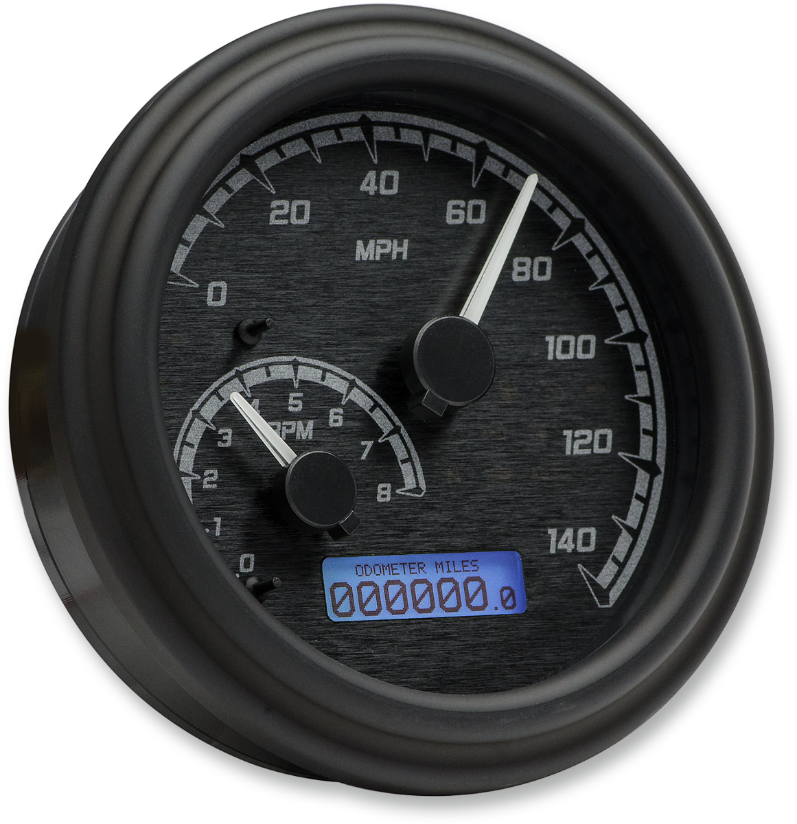 Dakota Digital Black Fatbob Tank Mounted Speedometer 96-03 Harley Softail FLHT