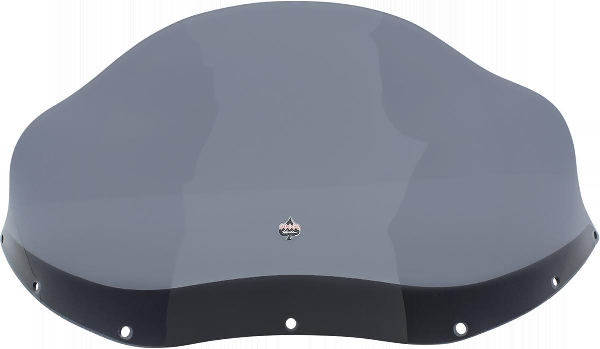 """Klock Werks 12"""" Dark Smoke Front Fairing Windshield 83-93 Harley Sport Glide"""