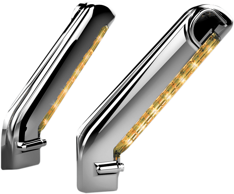 Kuryakyn 1757 Chrome LED Lighted Motorcycle Mirror Cover Lights for Harley