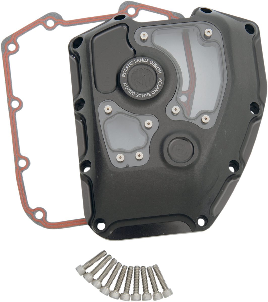 RSD Black Ops Clarity Transmission Cam Cover for 02-16 Harley Touring FLTRX FLHX