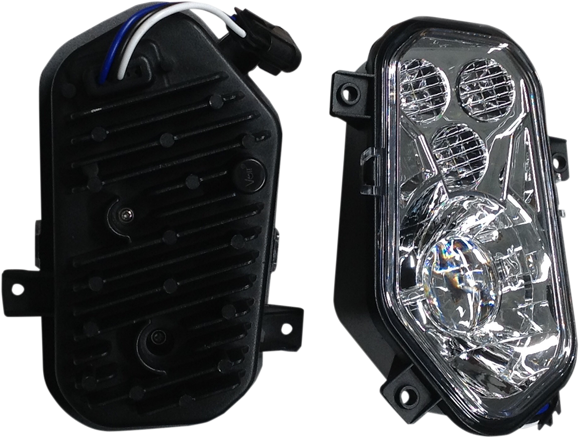 Brite Lites LED Clear Lens Side by Side Headlight Kit for 12-18 Polaris RZR 900