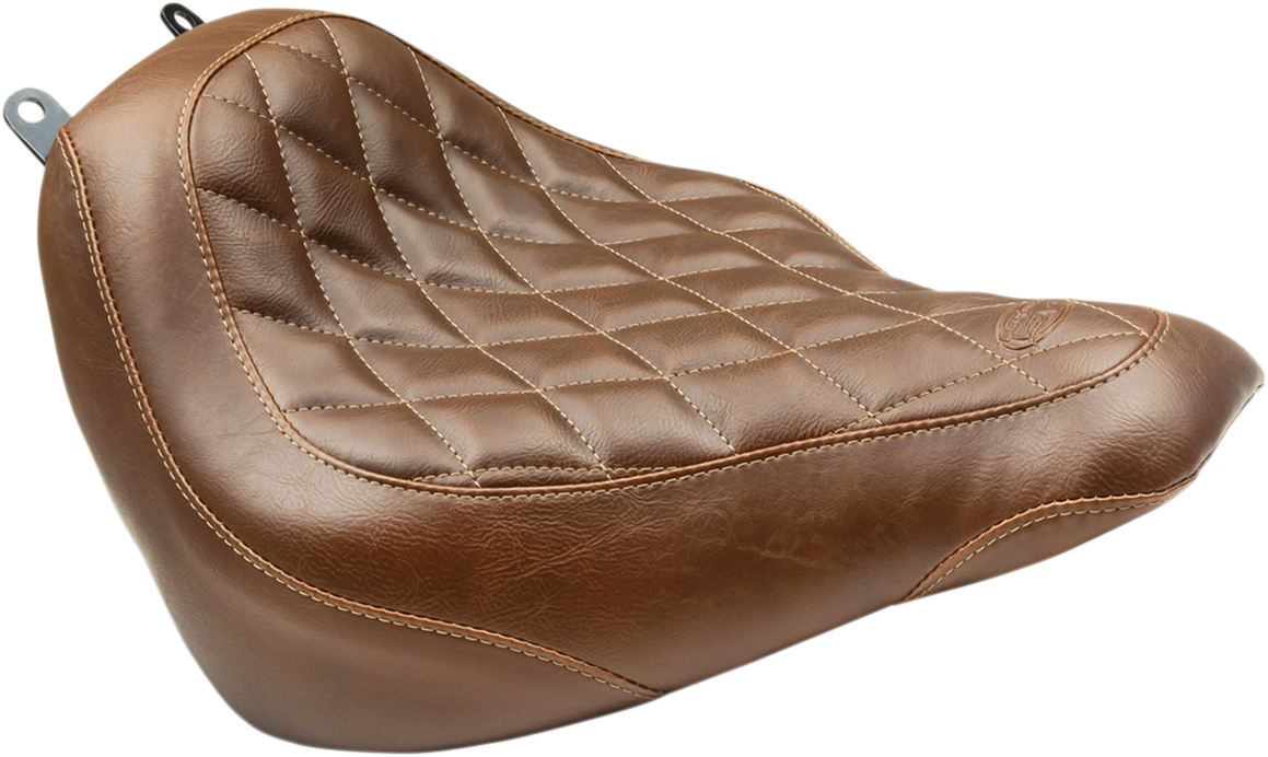 Mustang Tripper Brown Diamond Motorcycle Solo Seat 18-19 Harley Softail FXFB