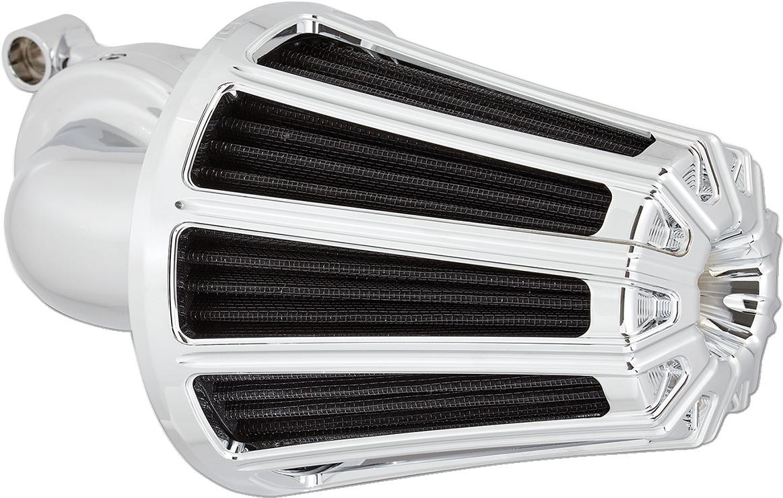 Arlen Ness Chrome 10 Gauge Monster Sucker Air Filer Kit for 88-18 Harley XL XLH