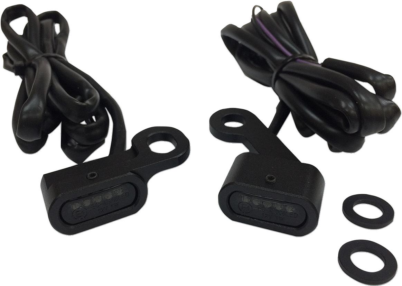 Drag Specialties Black LED Handlebar Marker Lights for 04-18 Harley Sportster