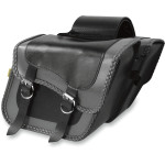GRAY THUNDER BRAIDED SLANT SADDLEBAGS
