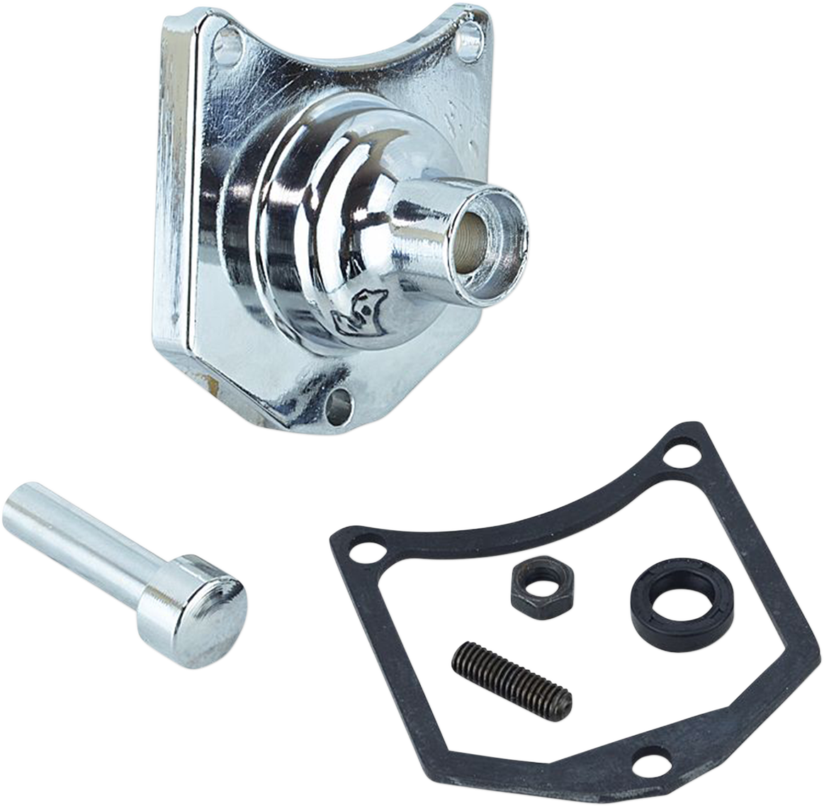 Drag Specialties Chrome Solenoid End Cover Starter Button for Harley Davidson