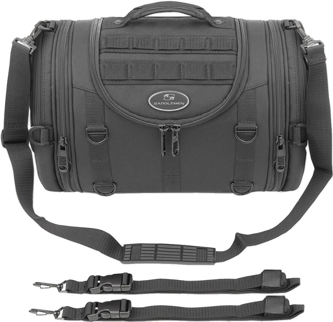 Saddlemen Black Textile Mesh R1300LXE Tactical Motorcycle Rack Bag for Harley