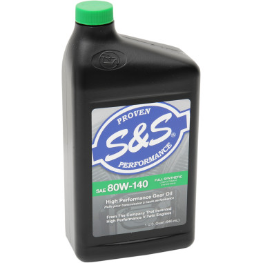 80W-140 HIGH-PERFORMANCE FULL-SYNTHETIC BIG TWIN GEAR OIL
