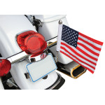 LICENSE PLATE FLAG MOUNTS WITH FLAG