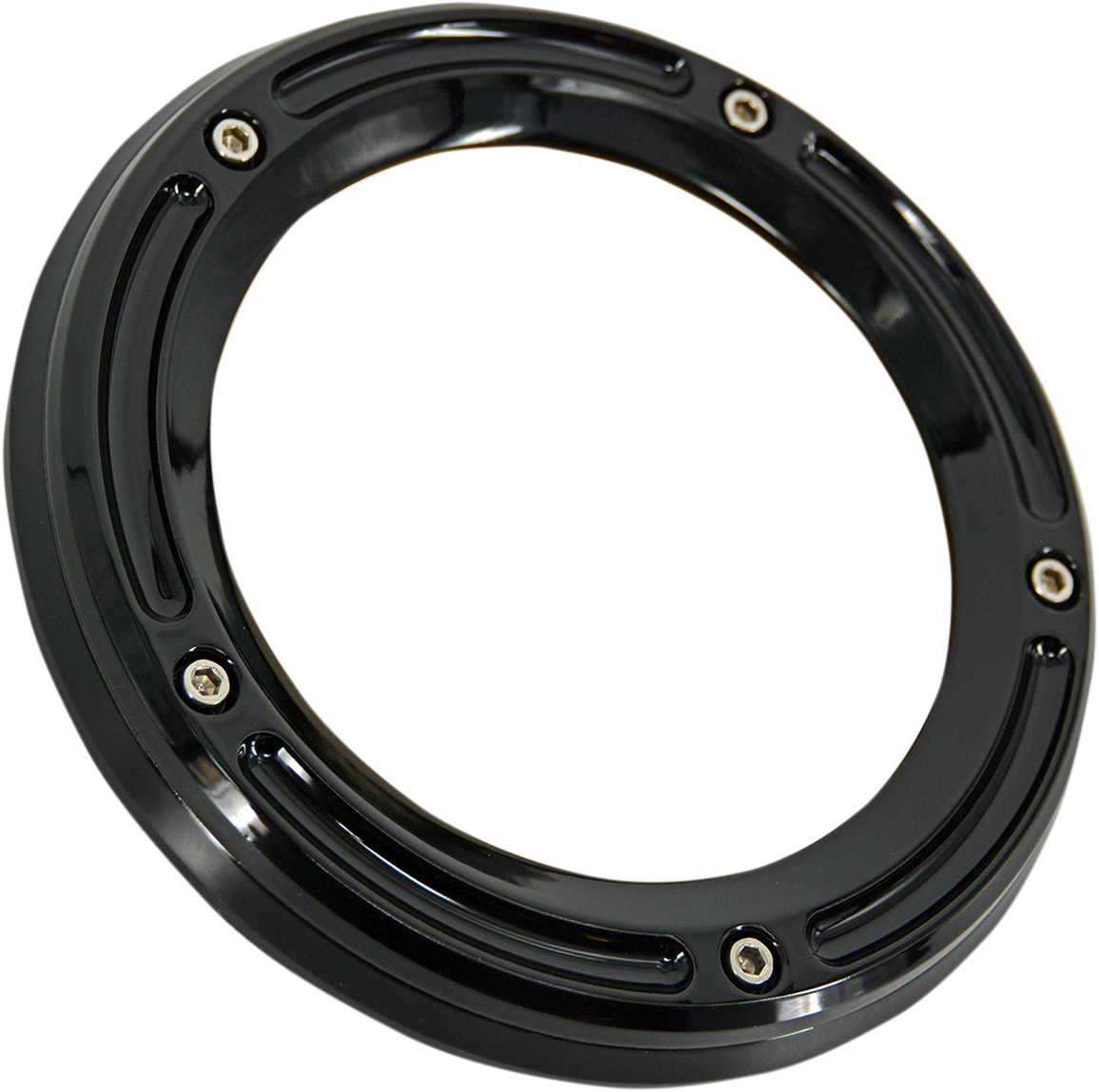 Trask Black Assault See Through 5 Hole Derby Cover 99-17 Harley Touring Softail
