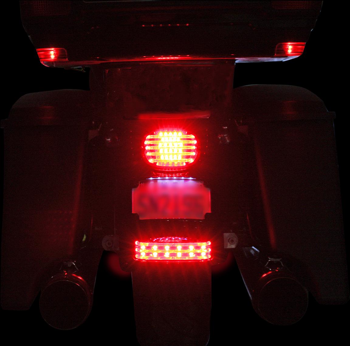 Custom Dynamics Black Smoke Lens Rear Fender Tip Light for 09-19 Harley Touring