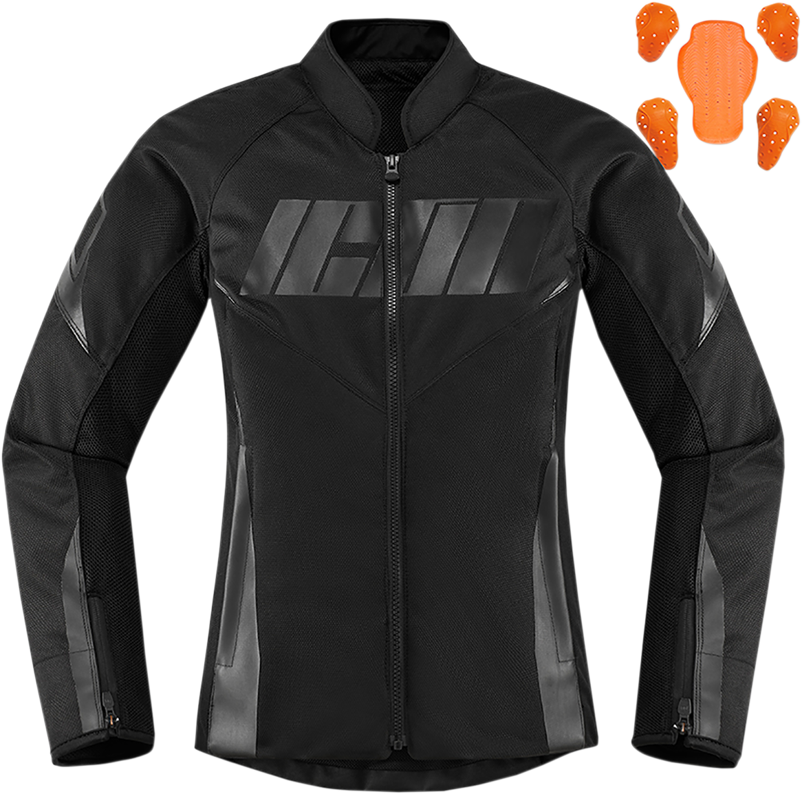 Icon Womens Hooligan Textile Motorcycle Riding Street Racing Long Sleeve Jacket
