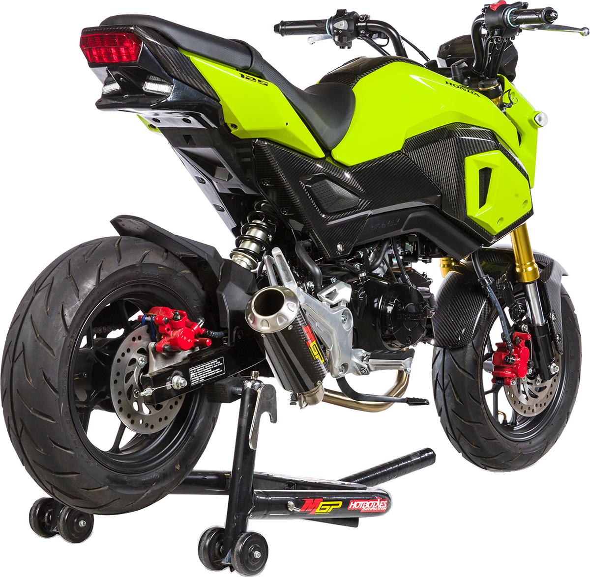 Hot Bodies MGP Carbon Fiber Exhaust System for 17-19 Honda MSX125 Grom