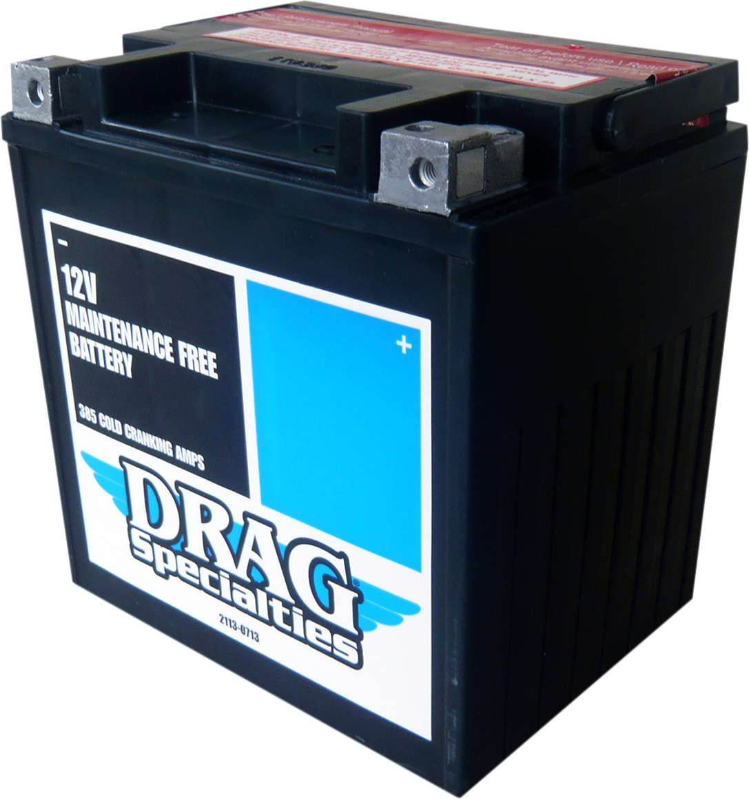 Drag Specialties AGM Maintenance Free Battery for 99-19 Harley Touring FLHX FLHT