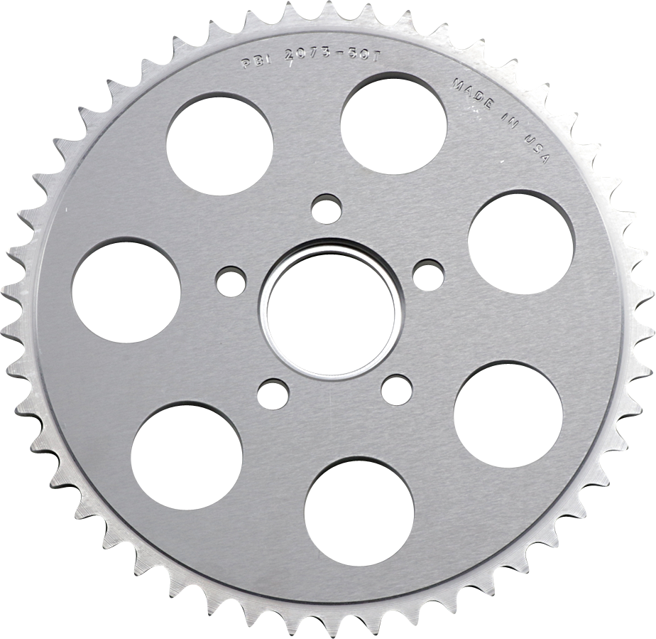 PBI Chrome Rear 50 Tooth Sprocket 86-13 Harley Dyna Touring Softail Sportster