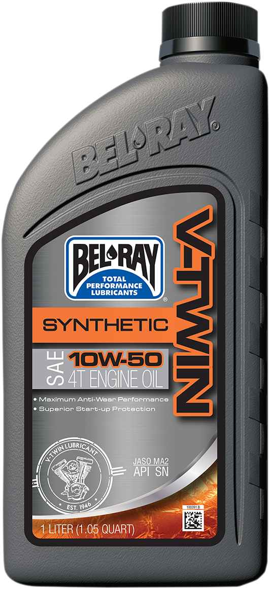 Bel Ray Single Fully Synthetic 10W-50 SAE 1 Quart Motorcycle Engine Motor Oil