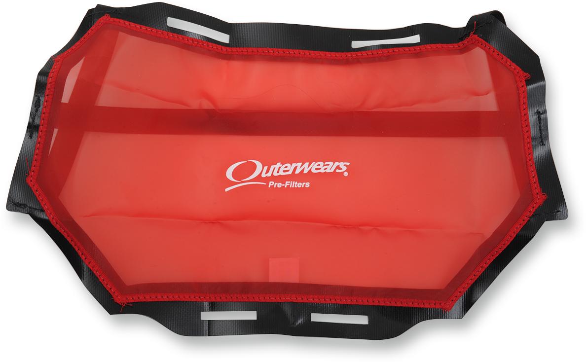 Outerwares Red UTV Radiator Screen Protection for 2014 Polaris RZR XP 1000