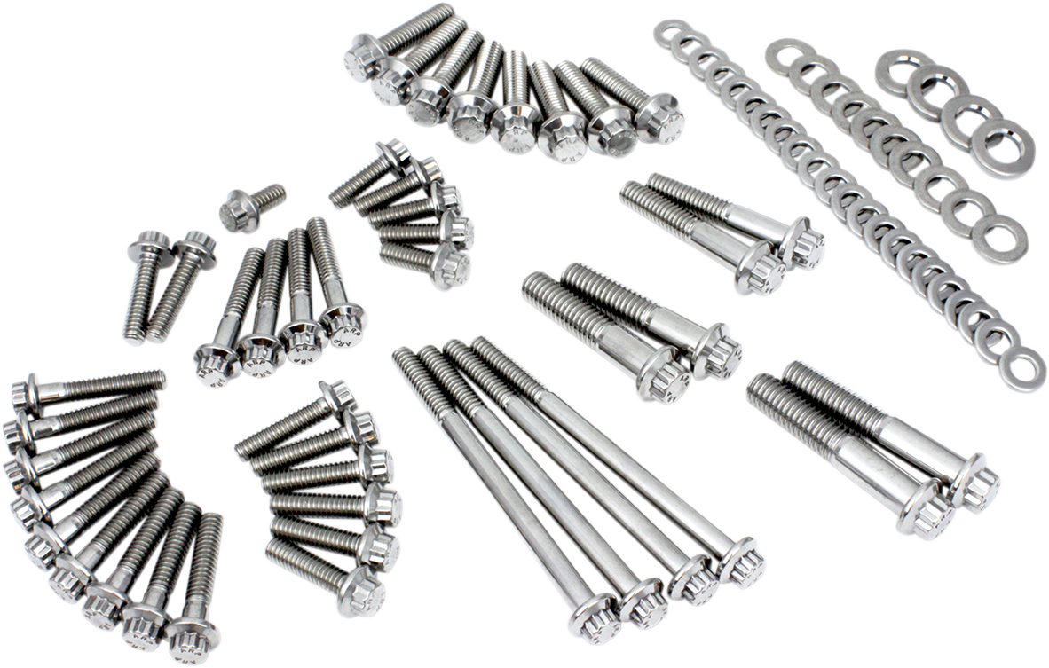 Feuling Polished 12 Point Primary Transmission Bolt Kit for 2018 Harley Softail