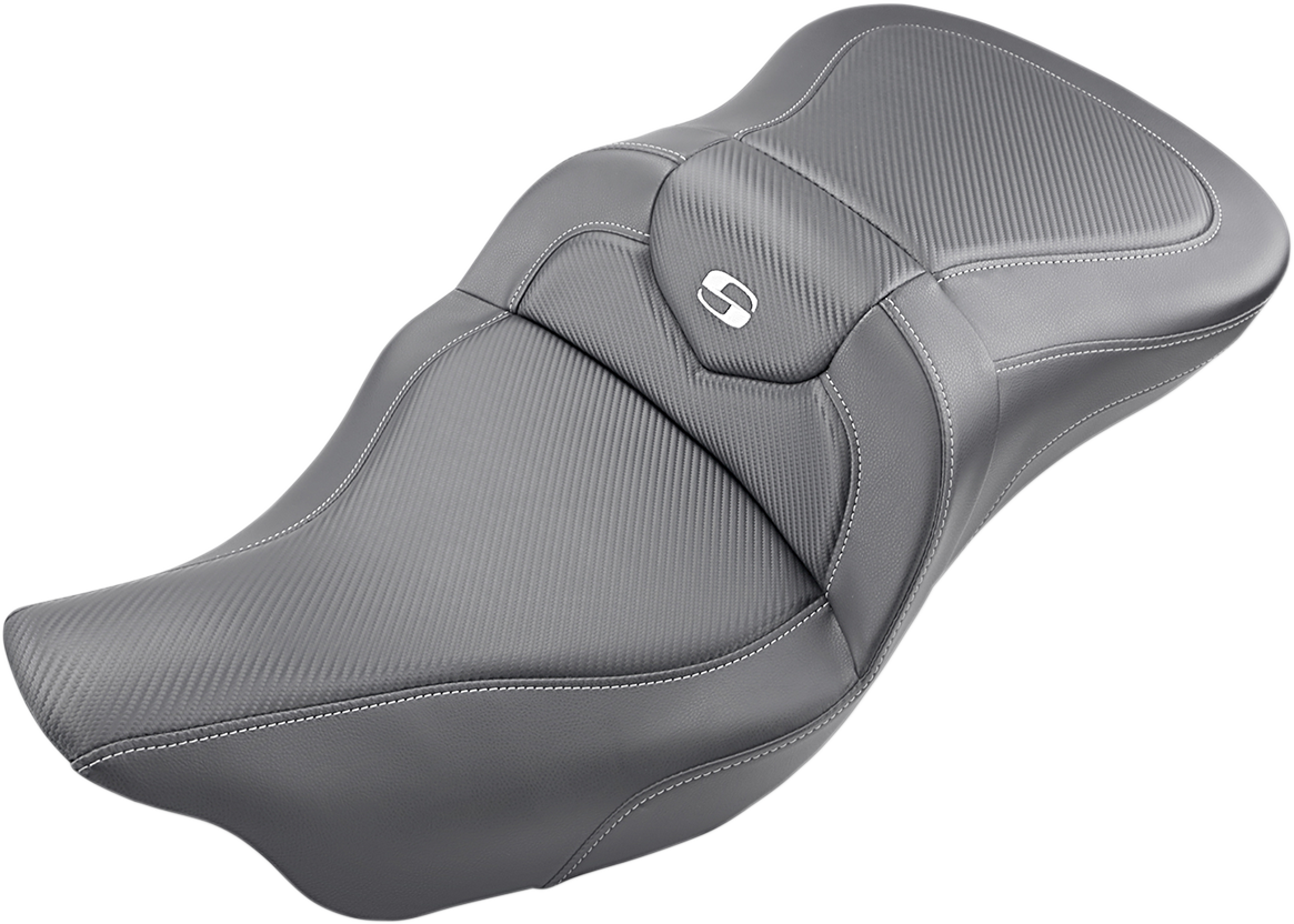 Saddlemen Black Road Sofa 2-Up Seat 08-19 Harley Touring FLHX FLHR FLTR FLHTI