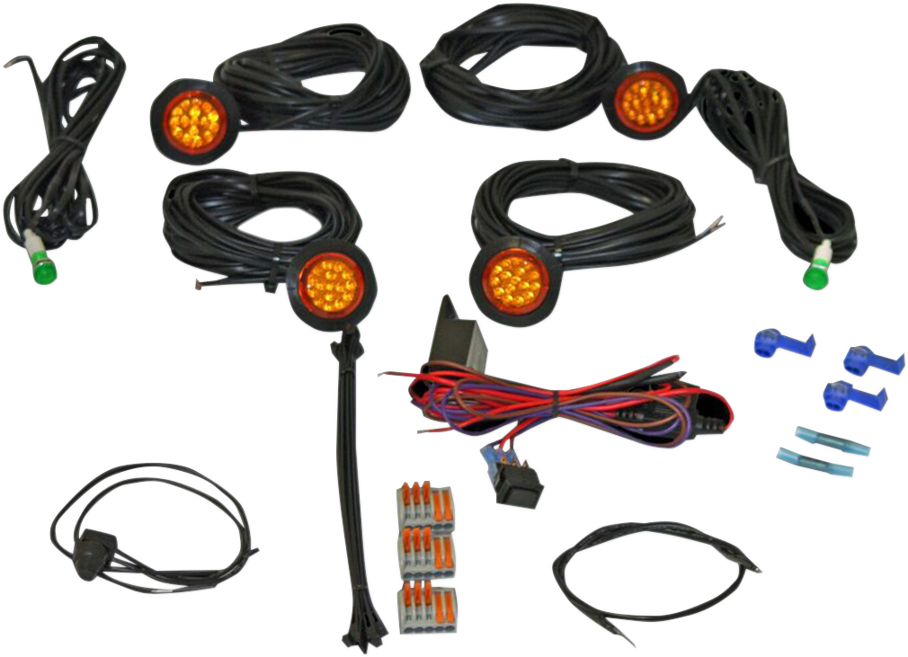 Custom Dynamics Front Rear Amber LED Universal Atv Utv Off road Turn Signal Kit