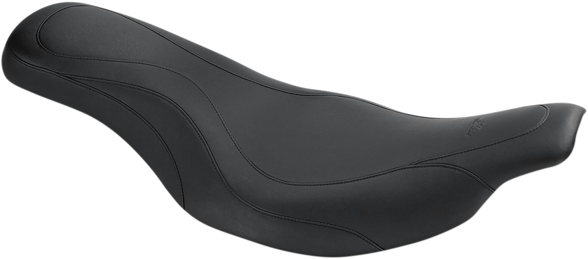 Mustang Daytripper Leather 2-Up Seat for 97-07 Harley Touring FLTR FLHT FLHTCU