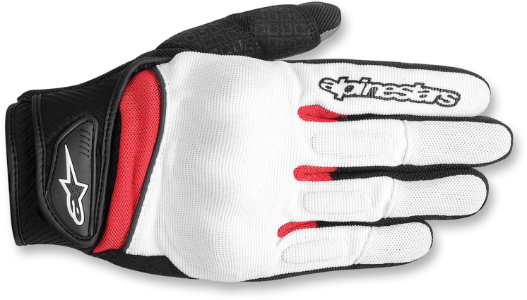 Alpinestars Spartans White , Black And Red Womens Xs Motorcycle Riding Gloves