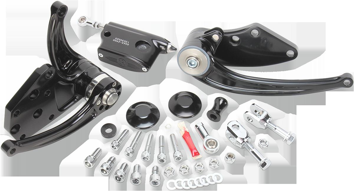 Performance Machine Black Contour Forward Controls 84-99 Harley Softail FXST
