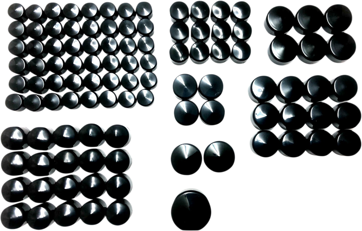 Drag Specialties Black Deluxe Motorcycle Bolt Cover Kit 17-20 Harley Touring