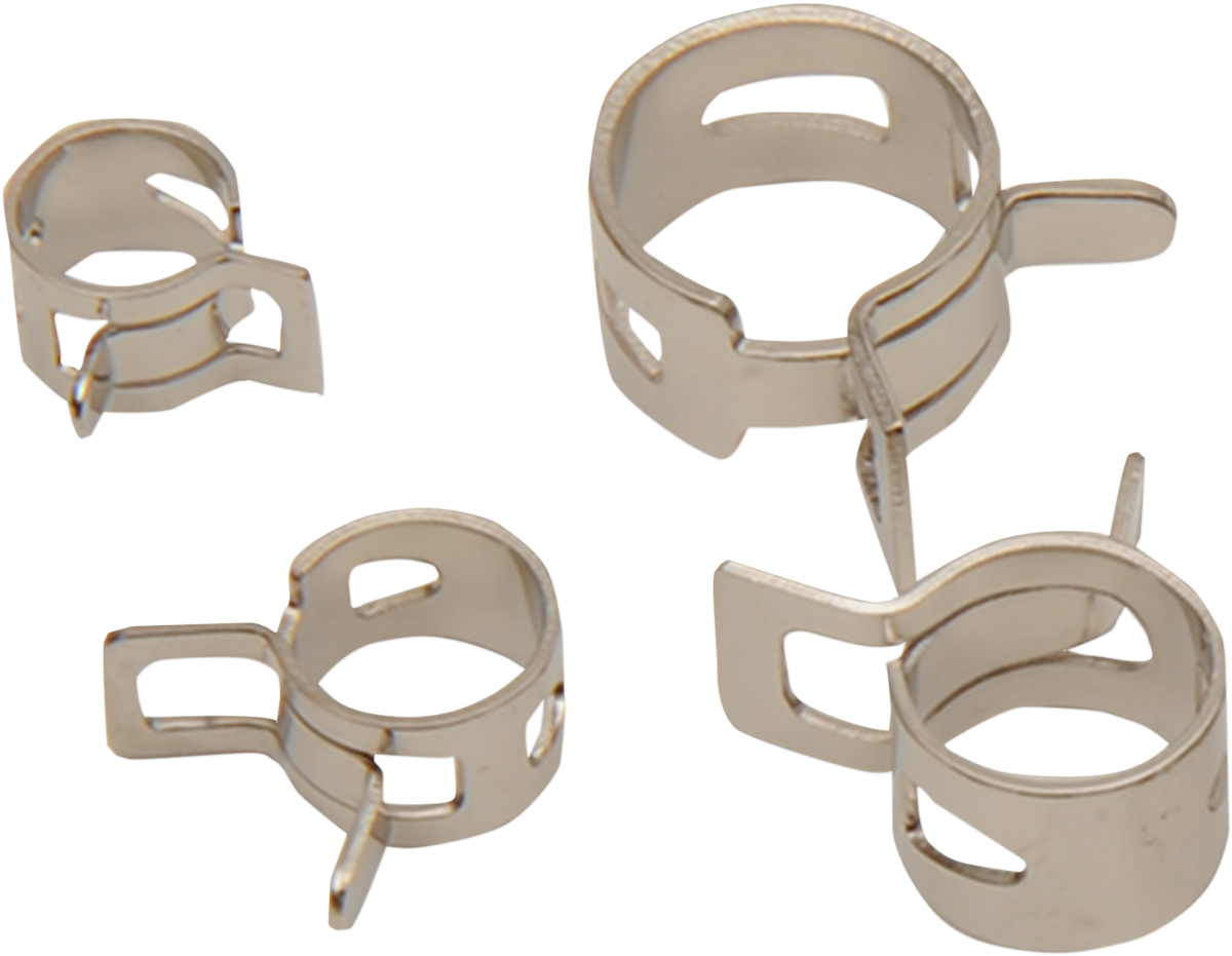 Drag Specialties Silver 20 Pack SAE Multi Functional Spring Hose Clamps Harley