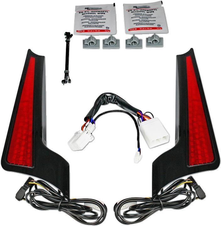 Custom Dynamics Red Lens LED Fascia Panel Lights 06-09 Harley Street Glide