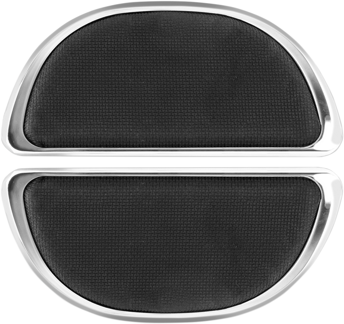 Chrome without Rivets Cyclesmiths 106-NR Banana Board Rear Floorboard Covers