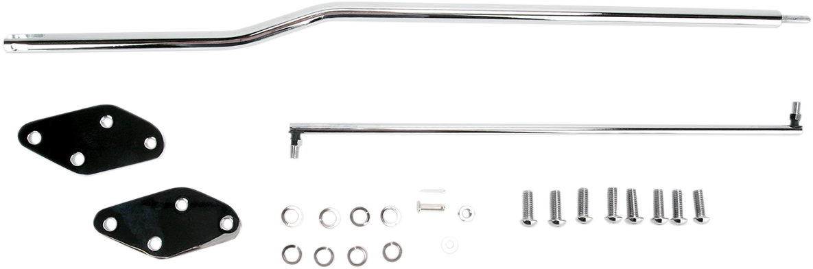 "Drag Specialties Chrome +2"" Forward Control Extension Kit for 91-17 Harley Dyna"