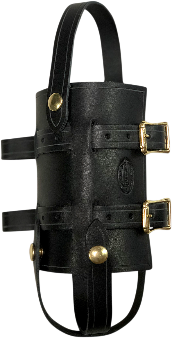 Nash Black Leather Brass Sling Quick Snap Universal 33oz Water Bottle Holder