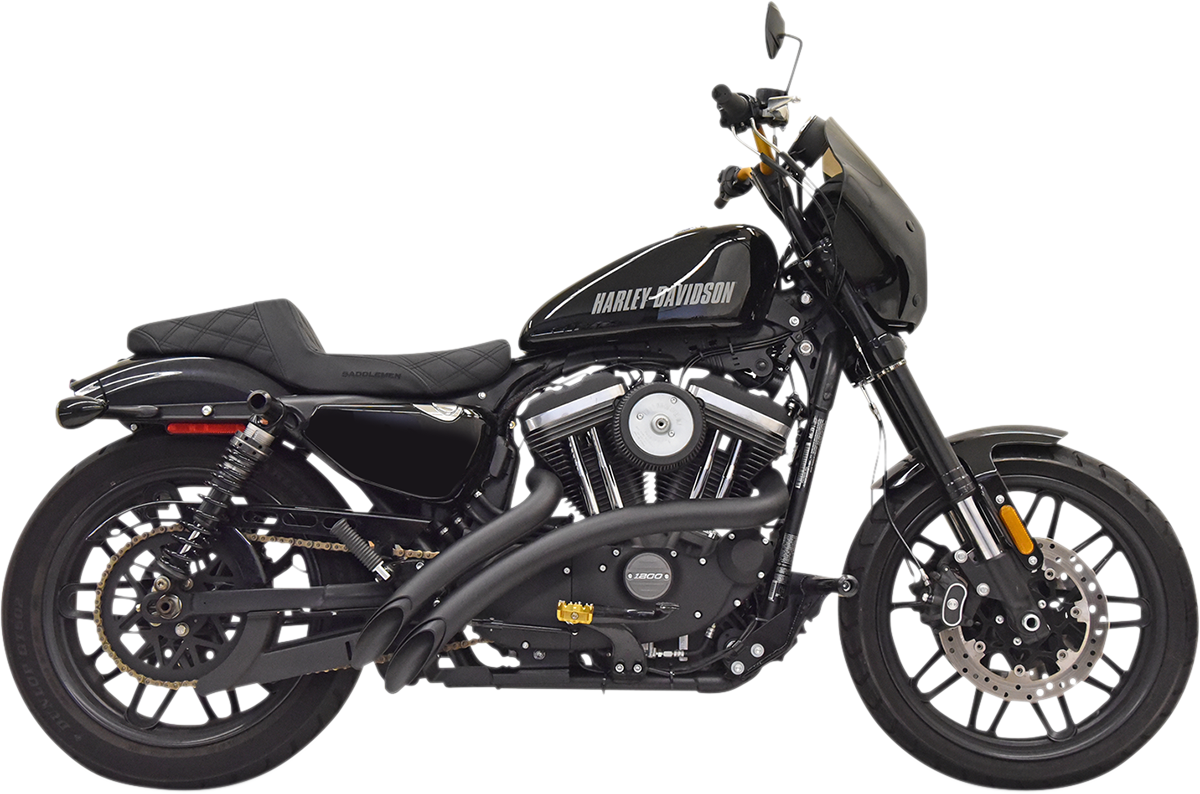Bassani 2-2 Sweeper Radius Exhaust 14-20 Harley Sportster Roadster SuperLow XLCX