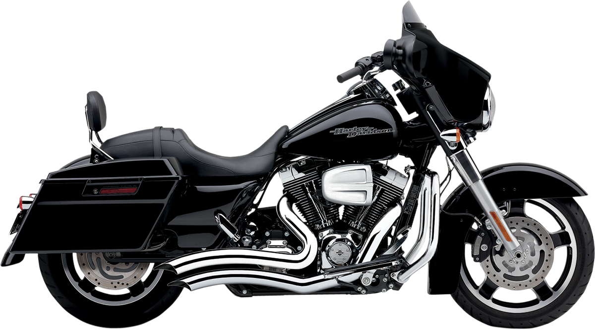 Cobra Chrome Short Swept 2-2 Motorcycle Exhaust 10-16 Harley Touring FLHX FLHR