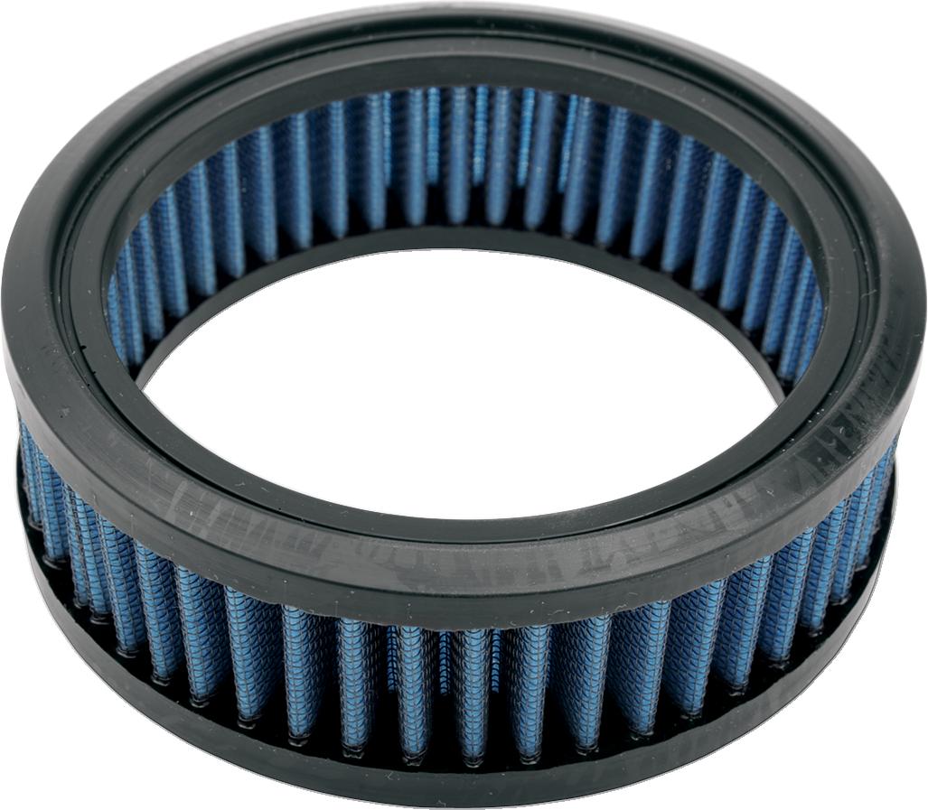 Drag Specialties Blue Gauze S&S D Teardrop Reusable Air Filter for Harley