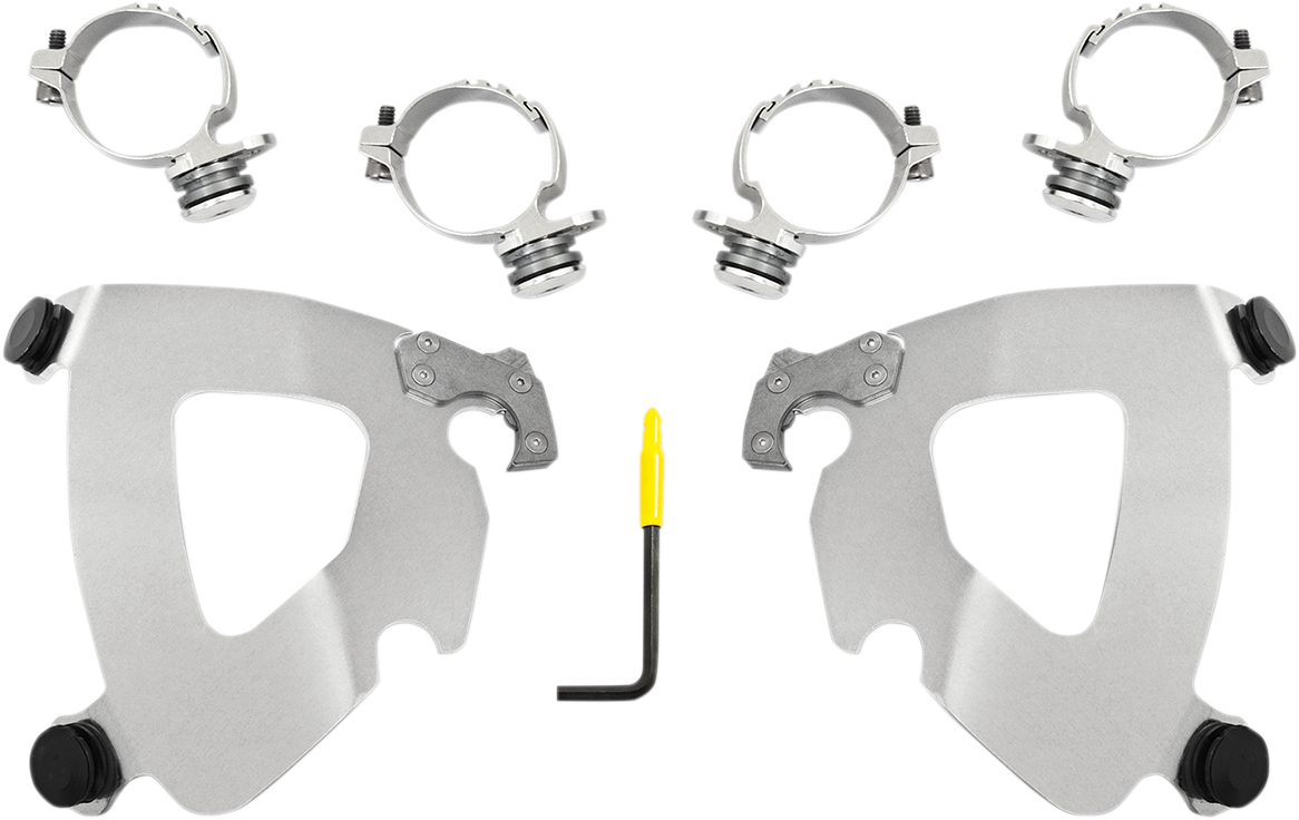 Memphis Shades Gauntlet Fairing Polished Mounting Kit for 2018 Harley Low Rider