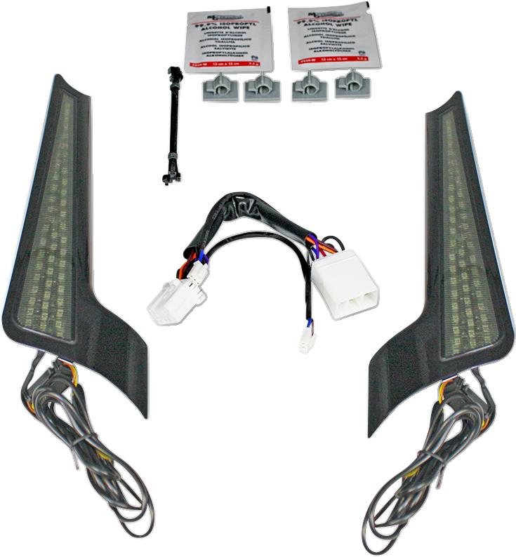 Custom Dynamics Smoke Lens LED Fascia Panel Lights 06-09 Harley Street Glide