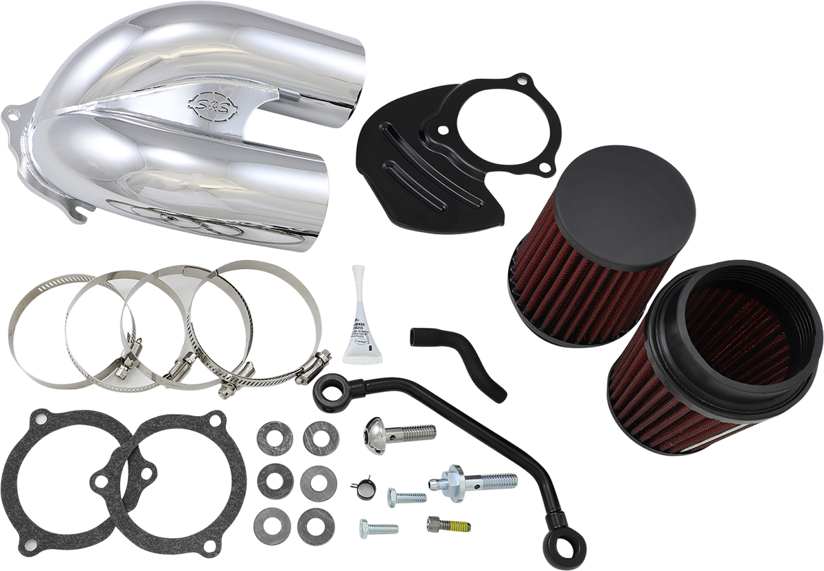 S&S Chrome Tuned Induction Air Filter Cleaner Kit 17-21 Harley Softail Touring