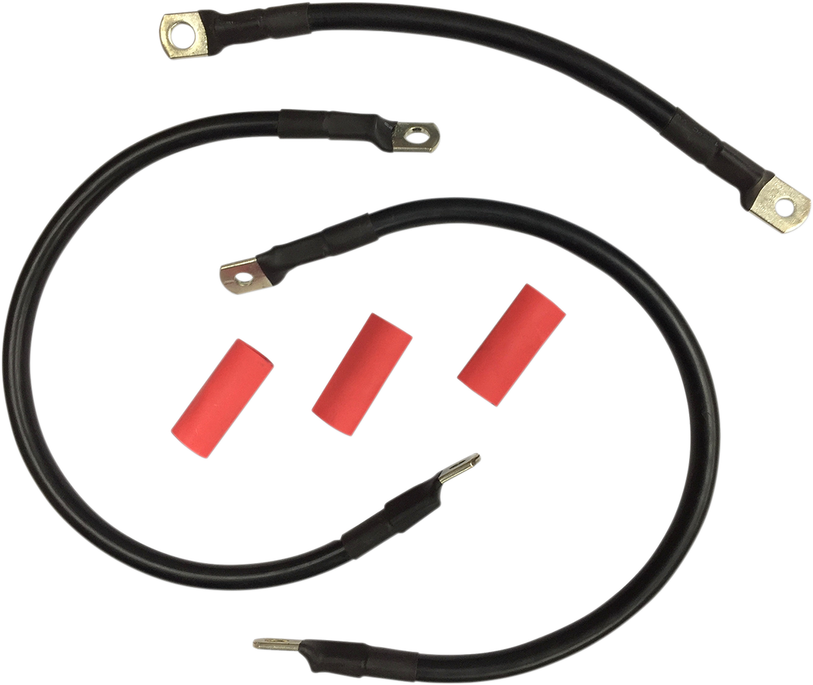 Drag Specialties Black Battery Cable Kit for 82-88 Harley Davidson FXR