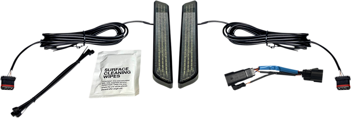 Custom Dynamics LED Front Fork Reflector lights 10-13 Harley CVO Touring FLHXSE